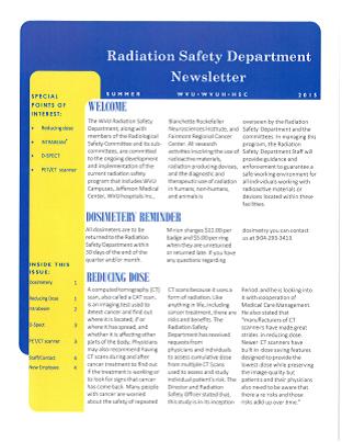 Newsletters   WVU Radiation Safety Office